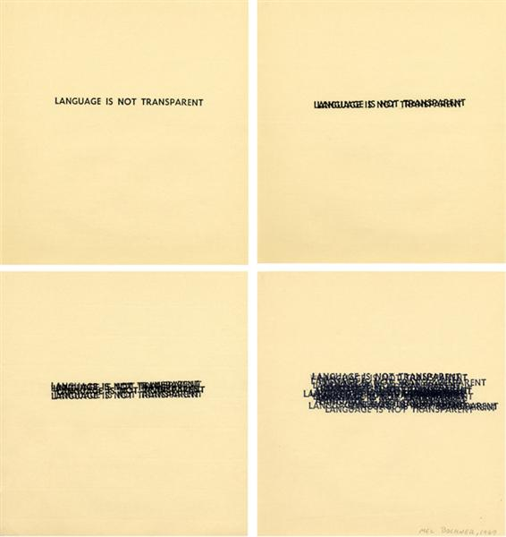 Language Is Not Transparent, 1969 - Mel Bochner
