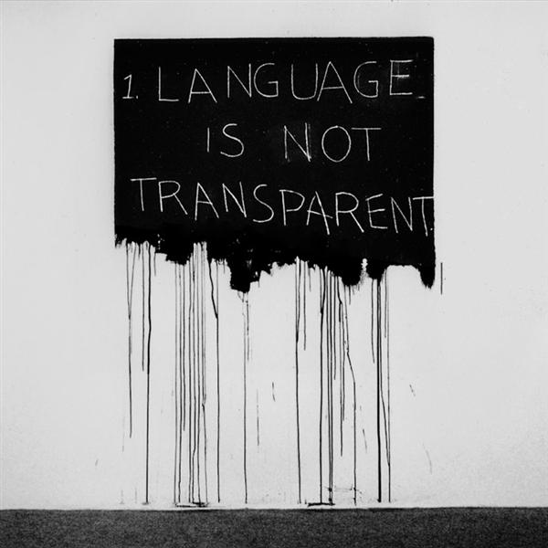 Language Is Not Transparent, 1970 - Mel Bochner