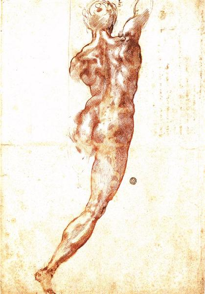 "Study to ""Battle of Cascina"", 1504 - Miguel Ángel"