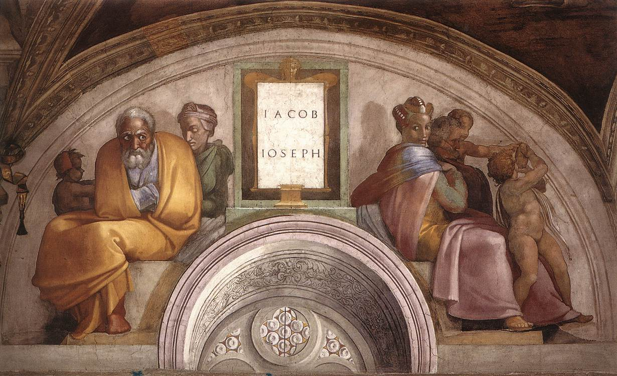 The Ancestors of Christ: Jacob, Joseph - Michelangelo - WikiPaintings.