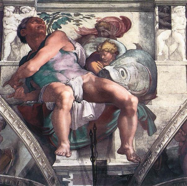 The Prophet Jonah, 1511 - Michelangelo