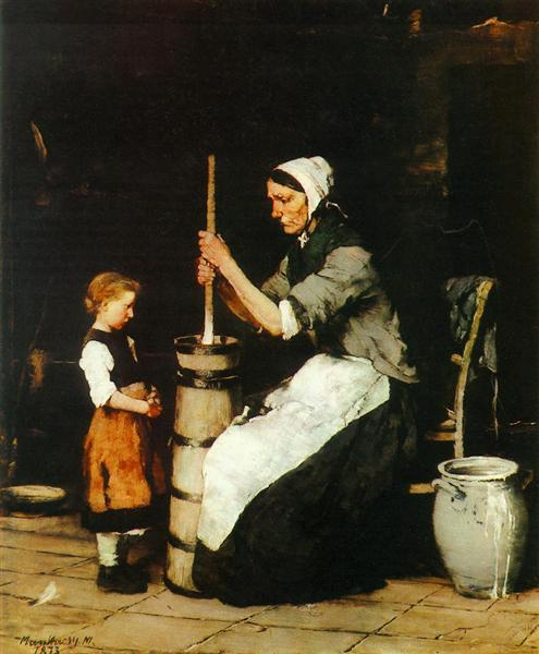 Churning Woman, 1873 - Mihaly Munkacsy