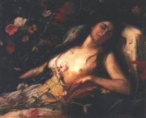 The Sacrifice of Flowers - Mihály Munkácsy