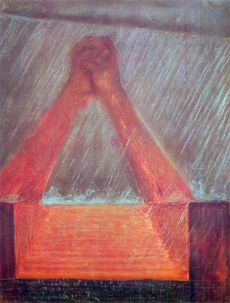Deluge (VI), 1904 - Mikalojus Konstantinas Ciurlionis