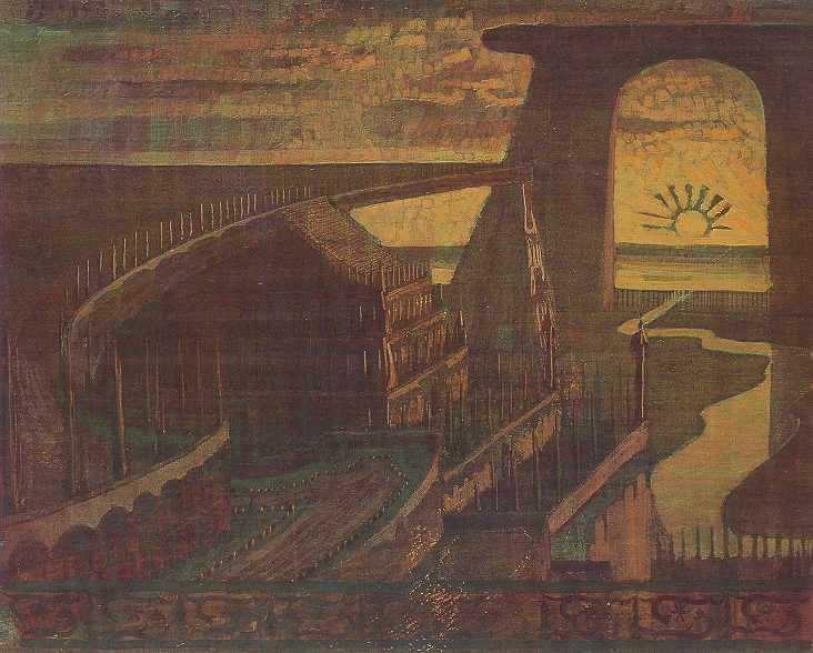 Фортеця (Казкова фортеця), 1908 - Мікалоюс Чюрльоніс