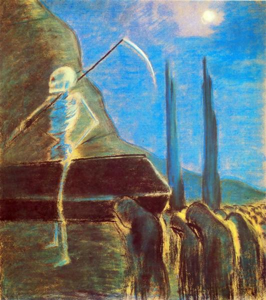 Поховальна симфонія (V), 1903 - Мікалоюс Чюрльоніс