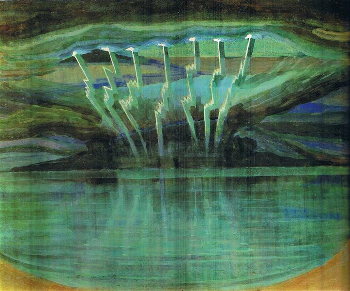 Relâmpago, 1909 - Mikalojus Konstantinas Čiurlionis