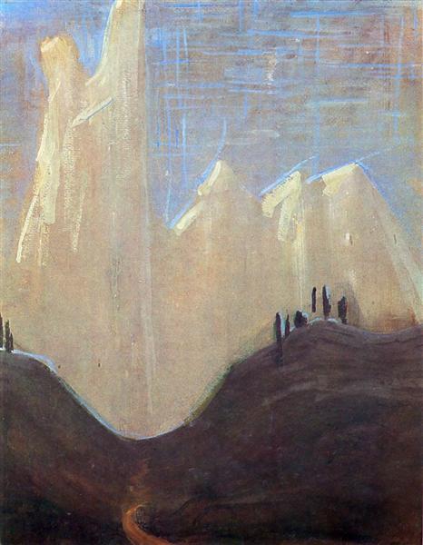 My road (I), 1907 - Mikalojus Konstantinas Ciurlionis