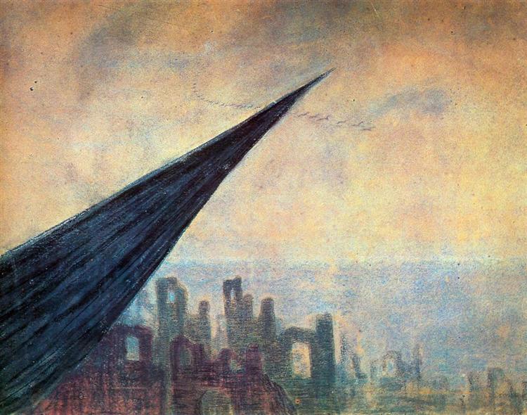 Sorrow (II), 1907 - Mikalojus Konstantinas Ciurlionis