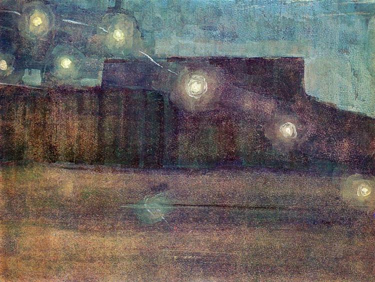 Sparks (II), 1906 - Mikalojus Konstantinas Ciurlionis