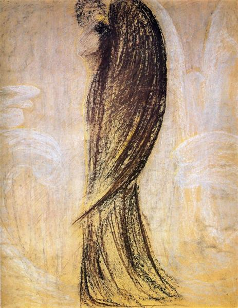 The angel, 1905 - Mikalojus Konstantinas Ciurlionis