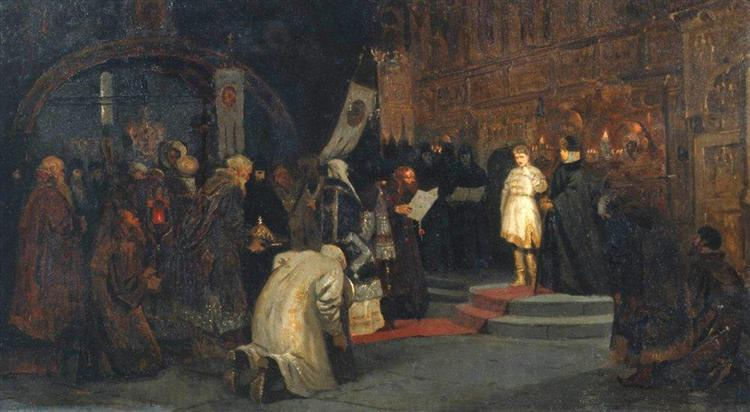 Michael's vocation to the realm, 1885 - Mikhail Nesterov