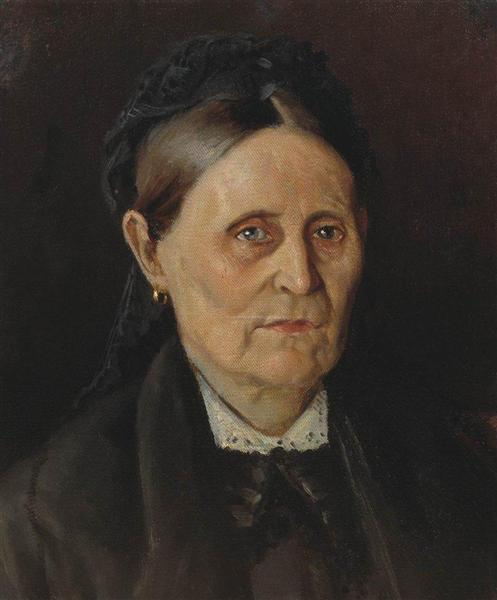 Portrait of M. M. Nesterova, the artist's mother, c.1875 - Mikhail Nesterov