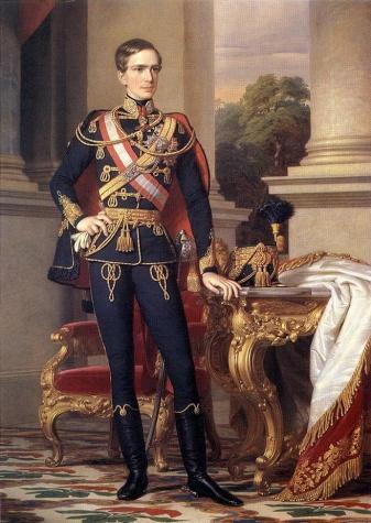 Portrait of Emperor Franz Joseph I, 1853 - Miklos Barabas