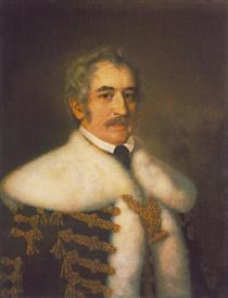 Portrait of József Teleki - Miklós Barabás