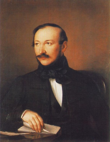 Portrait of Poet Mihály Vörösmarty, 1836 - Miklos Barabas