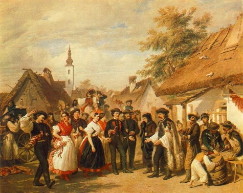 The Arrival of the Daughter-in-law, 1856 - Миклош Барабаш