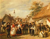 The Arrival of the Daughter-in-law - Miklós Barabás