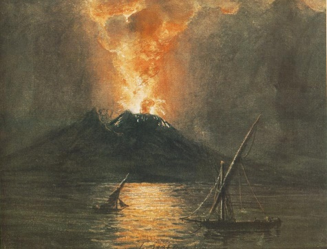 The Eruption of the Vesuv, 1835 - Miklós Barabás