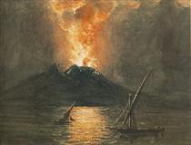 The Eruption of the Vesuv - Miklós Barabás