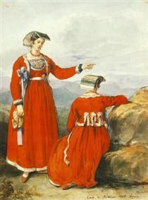 Women at Nettuno - Miklós Barabás