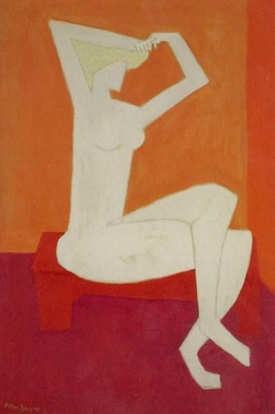 Nude Combing Hair, 1954 - Milton Avery