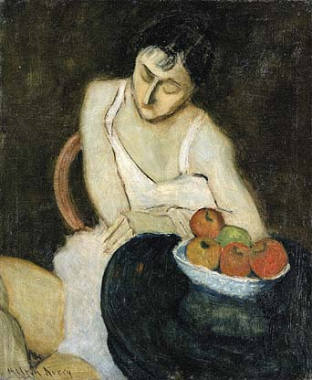 Sally Avery with Still Life, 1926 - Milton Avery