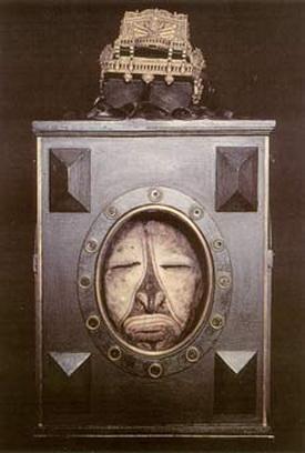 Reliquaire pour un crâne surmodelé du Moyen-Sepik, Nouvelle-Guinée, 1976 - Mimi Parent