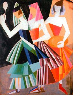 Aleksandra Ekster, costume designs for a 1917 production of Salome - Miriam Schapiro