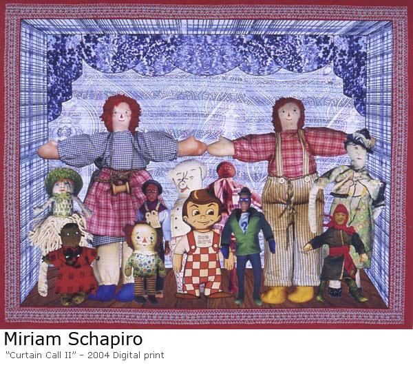Curtain Call II, 2004 - Miriam Schapiro