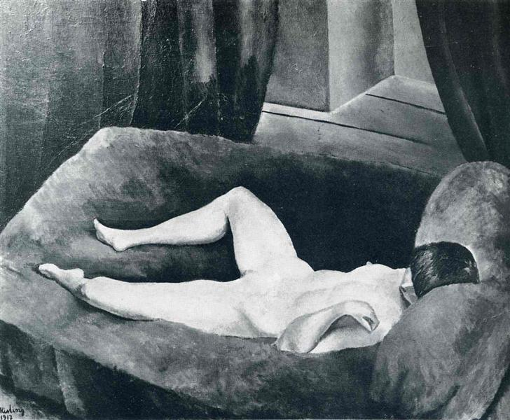 Waiting, 1917 - Moise Kisling