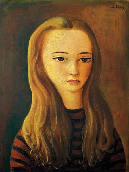 Young girl with long hair, 1942 - Moïse Kisling