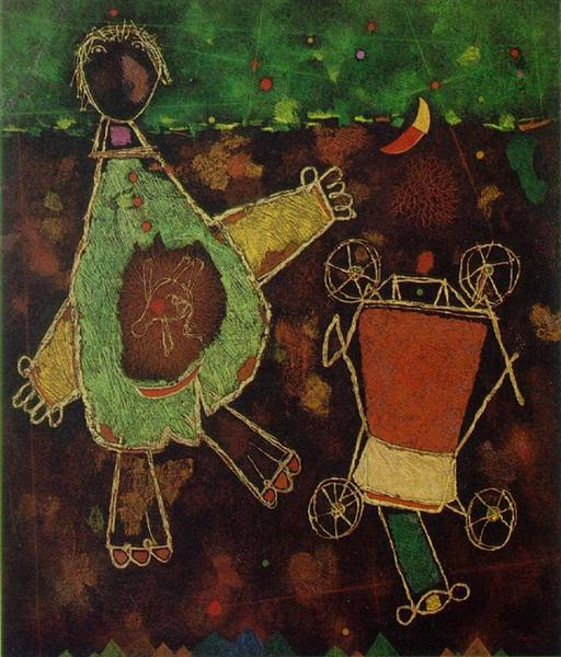 For the Fallen - Right-hand panel: The Unborn, 1956 - Mordecai Ardon