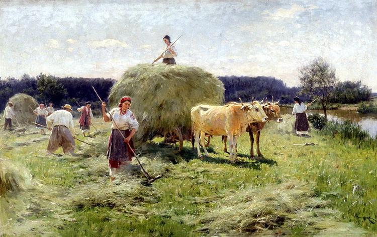 Haymaking - Mykola Pymonenko