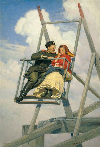 On the swing, 1888 - Николай  Ярошенко