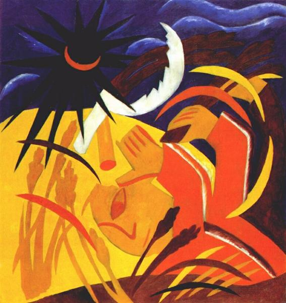 Harvest, 1911 - Natalia Goncharova