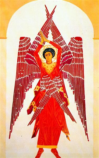 Liturgy six winged Seraph, 1914 - Natalia Goncharova