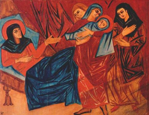 Nativity - Natalia Goncharova