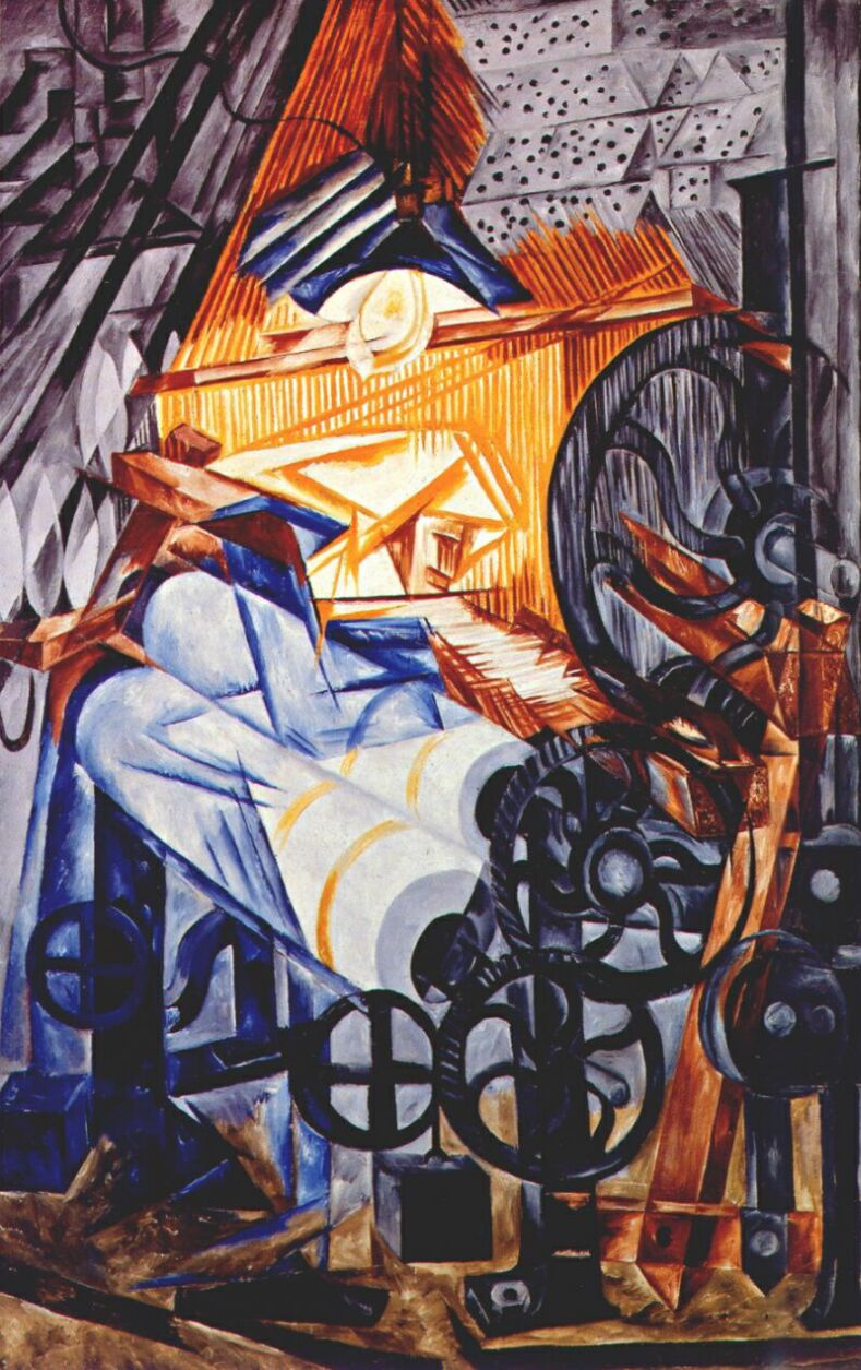 Image result for natalia goncharova the weaver