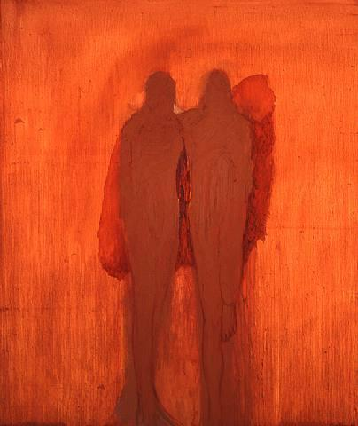 Couple with Red, 2003 - Nathan Oliveira