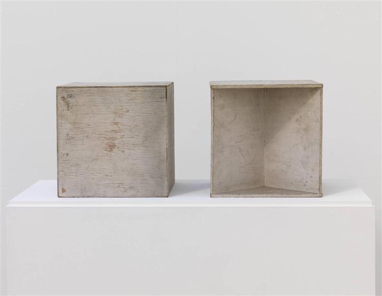 Two Cubes (Demonstrating the Stereometric Method), 1930 - Naum Gabo