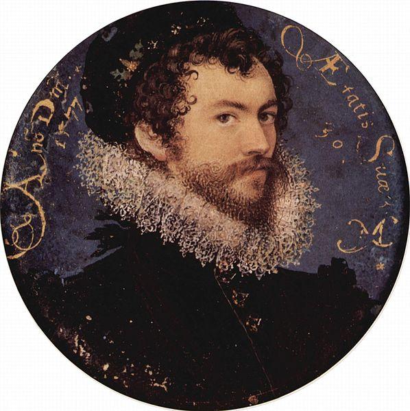 Self-portrait, 1577 - Nicholas Hilliard