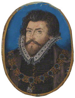 Sir Christopher Hatton, 1588 - Nicholas Hilliard