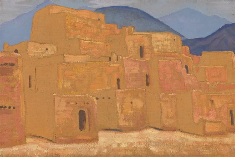 Taos Pueblo, New Mexico, c.1921 - Nicholas Roerich