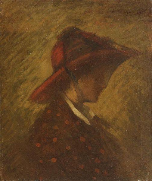 Lady with veil, 1915 - Nicolae Tonitza