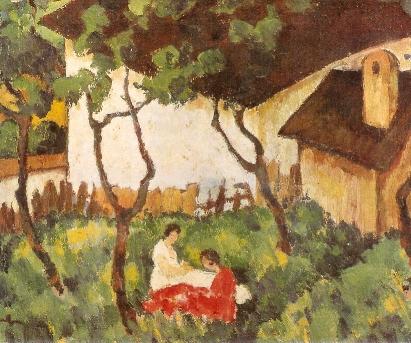 The Garden in Văleni - Nicolae Tonitza