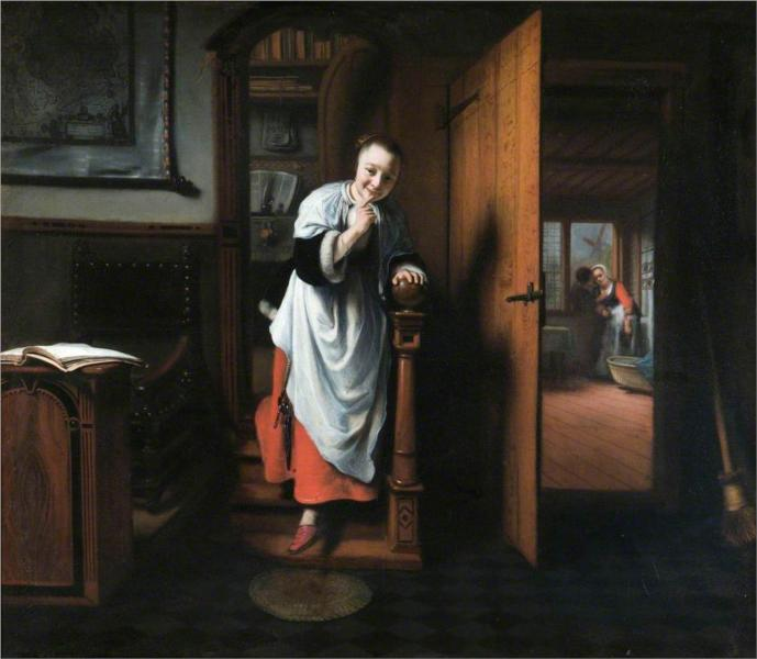 The Eavesdropper - Nicolaes Maes