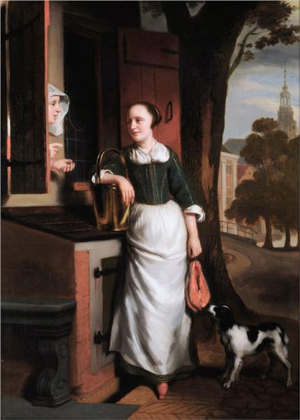 Two Chattering Housewives - Nicolaes Maes