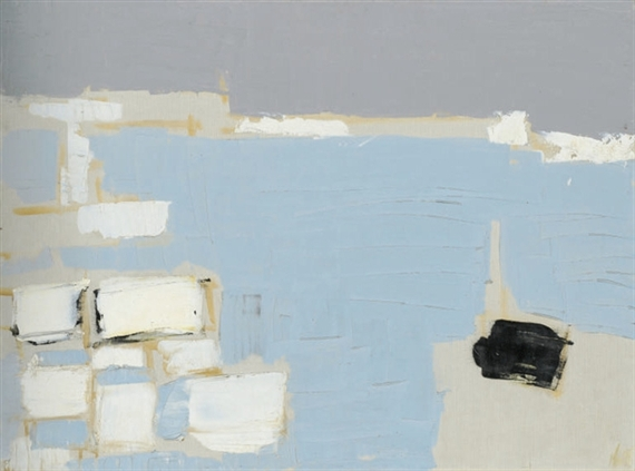 Marseille under snow - Nicolas de Staël