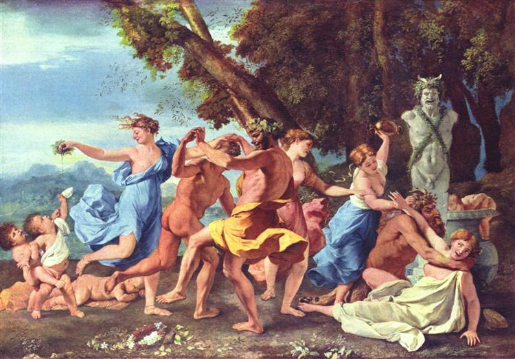 Bacchanal before a Statue of Pan, 1631 - 1633 - Nicolas Poussin